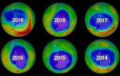 Lỗ thủng tầng ozone thu lại nhỏ nhất từ năm 1982 đến nay