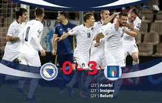 ĐT Bosnia-Herzegovina 0-3 ĐT Italia: Nối dài mạch toàn thắng!