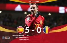 ĐT Tây Ban Nha 5-0 ĐT Romania: Chiến thắng đậm đà