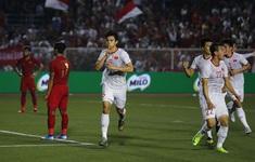 TRỰC TIẾP BÓNG ĐÁ U22 Indonesia 0-1 U22 Việt Nam: Văn Hậu ghi bàn mở tỉ số (Hết hiệp 1)