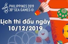 Lịch thi đấu ngày 10/12 của Đoàn Thể thao Việt Nam tại SEA Games 30