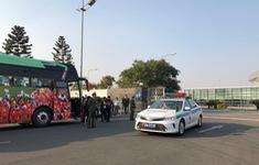 An ninh thắt chặt tại sân bay Nội Bài chờ đón ĐT bóng đá nữ và U22 Việt Nam
