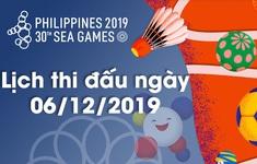 Lịch thi đấu ngày 06/12 của Đoàn Thể thao Việt Nam tại SEA Games 30