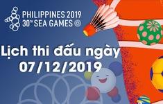 Lịch thi đấu ngày 07/12 của Đoàn Thể thao Việt Nam tại SEA Games 30