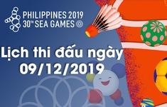 Lịch thi đấu ngày 09/12 của Đoàn Thể thao Việt Nam tại SEA Games 30