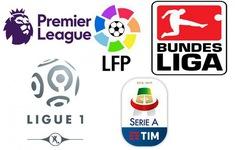 CẬP NHẬT: Kết quả, BXH các giải bóng đá VĐQG châu Âu: Ngoại hạng Anh, La Liga, Serie A, Bundesliga...