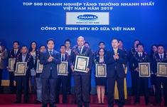 Công ty Bò sữa Việt Nam (thuộc Vinamilk) lọt top tăng trưởng nhanh nhất Việt Nam