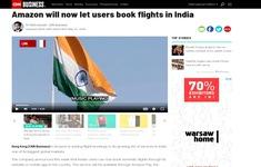 Amazon lần đầu tiên cung cấp dịch vụ đặt vé máy bay tại Ấn Độ