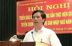 Cách tất cả chức vụ trong Đảng của Bỉ thư Huyện ủy Phúc Thọ, TP Hà Nội