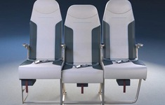 Sáng tạo mới để không ai phải khó chịu với ghế giữa máy bay