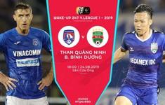 TRỰC TIẾP BÓNG ĐÁ Than Quảng Ninh 0-0 Becamex Bình Dương: Hiệp 1