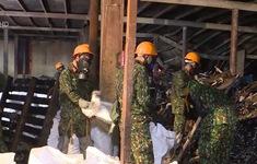 Việc thu gom, vận chuyển chất thải tại vụ cháy công ty Rạng Đông sắp hoàn thành