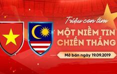 Hôm nay (19/9), mở bán vé online trận ĐT Việt Nam - ĐT Malaysia tại vòng loại World Cup 2022