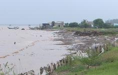 Sạt lở nghiêm trọng ở bờ biển tỉnh Tiền Giang