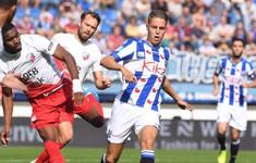 Văn Hậu dự bị, SC Heerenveen hòa đáng tiếc FC Utrecht