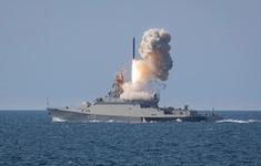Tàu Nga diễn tập phóng tên lửa hành trình trên biển