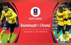 Bournemouth 1-2 Arsenal: Sao trẻ tỏa sáng (Vòng 4 FA Cup)