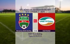VIDEO Highlights: Becamex Bình Dương 2-0 CLB Viettel (Vòng 13 LS V.League 1-2020)