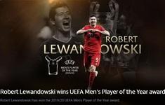 Robert Lewandowski giành giải cầu thủ xuất sắc nhất năm của UEFA