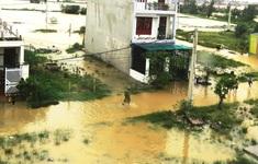 Nước lũ lần đầu tiên gây ngập Thành phố Đồng Hới, Quảng Bình