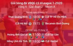 Lịch thi đấu và trực tiếp vòng 4 giai đoạn 2 V.League 2020: Khốc liệt cuộc đua vô địch