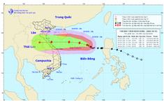 Bão số 8 mạnh thêm cách quần đảo Hoàng Sa 360km