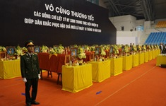 Lễ tang 22 cán bộ, chiến sĩ Đoàn 337 hi sinh được tổ chức theo nghi thức quân đội