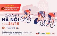 Chặng khai mạc giải Xe đạp VTV Cúp Tôn Hoa Sen 2020: Vòng quanh hồ Hoàn Kiếm (08h00 ngày 24/10 trực tiếp trên VTV3, ứng dụng VTV Sports)