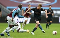 West Ham United 1-1 Manchester City: Man xanh chia điểm thất vọng (Vòng 6 Ngoại hạng Anh 2020/21)