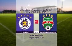 VIDEO Highlights: CLB Hà Nội 2-1 Becamex Bình Dương (Vòng 4 giai đoạn 2 V.League 2020, nhóm A)