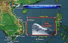 Bão số 9 di chuyển nhanh, gây mưa to đến rất to tại miền Trung