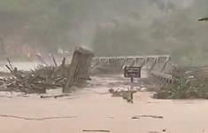 VIDEO: Bão số 9 đổ bộ, cầu bị cuốn trôi trong sự kinh hoàng của người dân