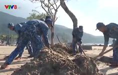 Các đơn vị Hải quân giúp người dân khắc phục hậu quả sau bão