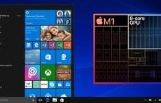 """Bản giả lập Windows đầu tiên """"chạy khá mượt"""" trên Apple Macbook dùng chip M1 mới"""