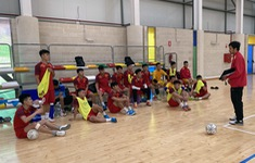 ĐT futsal Việt Nam chuẩn bị cho trận giao hữu cuối cùng tại Tây Ban Nha