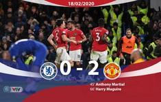 Chelsea 0-2 Manchester United: Chelsea thua trận thứ 3 liên tiếp trước M.U