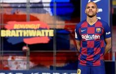 Barcelona chính thức ra mắt tiền đạo Martin Braithwaite