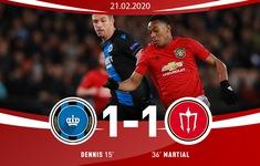 Brugge 1-1 Man Utd: Trận hòa nhọc nhằn (Vòng 1/16 Europa League)
