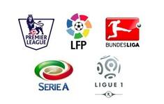 Lịch thi đấu, BXH các giải bóng đá VĐQG châu Âu: Ngoại hạng Anh, La Liga, Serie A, Bundesliga, Ligue 1