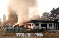 Cháy nhà xưởng ở Hải Dương