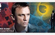 Hình ảnh của các điệp viên 007 được in trên tem