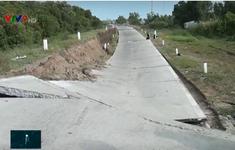 Xuất hiện hơn 900 điểm sụp lún đất ở Cà Mau