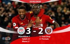 Liverpool 3-2 West Ham: Rượt đuổi mãn nhãn