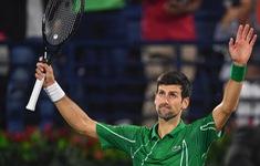 Djokovic và Stefános Tsitsipas cùng ghi tên mình vào tứ kết Dubai mở rộng 2020