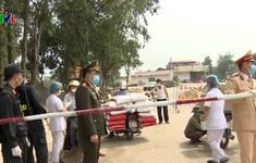 Những chiến sĩ đảm bảo an ninh trật tự tại vùng dịch Sơn Lôi, Vĩnh Phúc