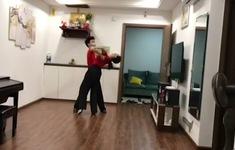 Các VĐV Dancesport tự tập luyện tại nhà như thế nào?
