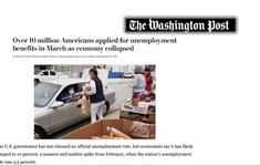 Thị trường lao động Mỹ tiếp tục chao đảo do dịch COVID-19