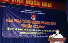 Tỉnh Đoàn Khánh Hòa trao vật dụng y tế cho Bệnh viện Bệnh nhiệt đới