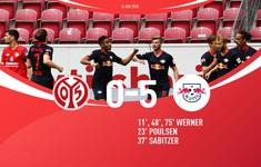 Mainz 05 0 - 5 RB Leipzig: Chiến thắng ấn tượng