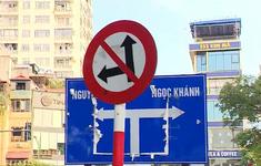 Bất cập biển báo tại ngã tư Kim Mã - Vạn Phúc: Lái xe không biết di chuyển như thế nào